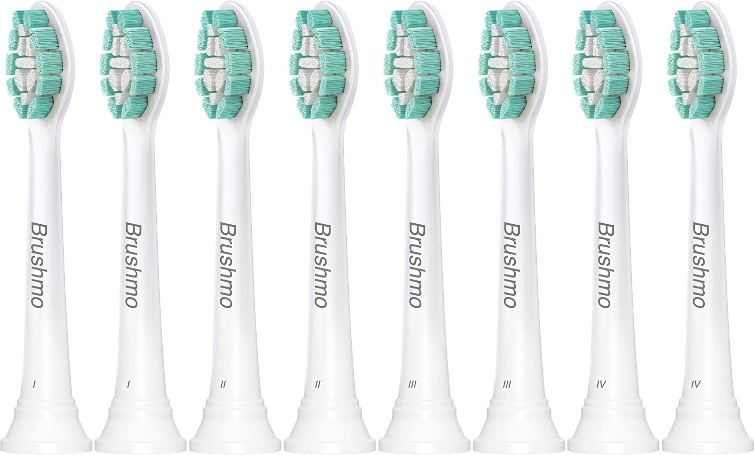 Brushmo 8 Pack Replacement Heads Deep Clean Toothbrush $14.4 Coupon