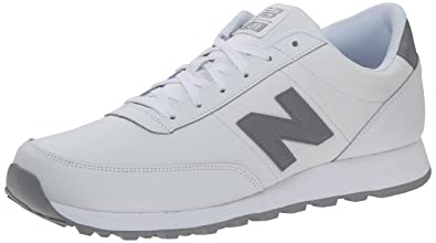 497de06975bc8 New Balance Men's NB501 Leather Collection-M, White/Steel Grey, 7 2E