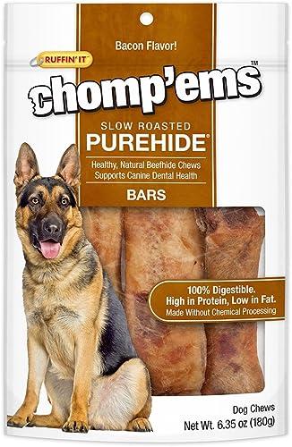 Ruffin It Purehide Bars Healthy Natural Rawhide, 6.35 Oz