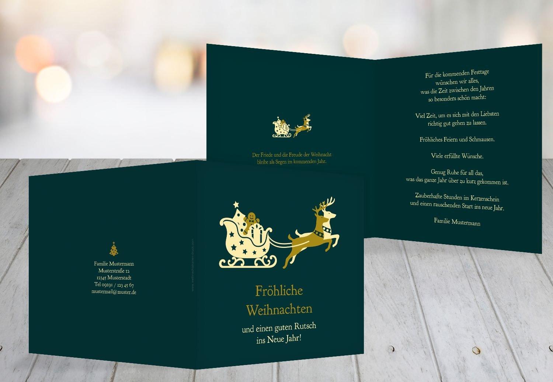 Kartenparadies Grußkarte Weihnachten Grußkarte Kutsche, Hochwertige Weihnachtsgrüße als Weihnachtskarte (Format  145x145 mm) Farbe  KraeftigRosa B01MXKJ0M9 | Vielfalt  | Beliebte Empfehlung  | Modern Und Elegant In Der Mode