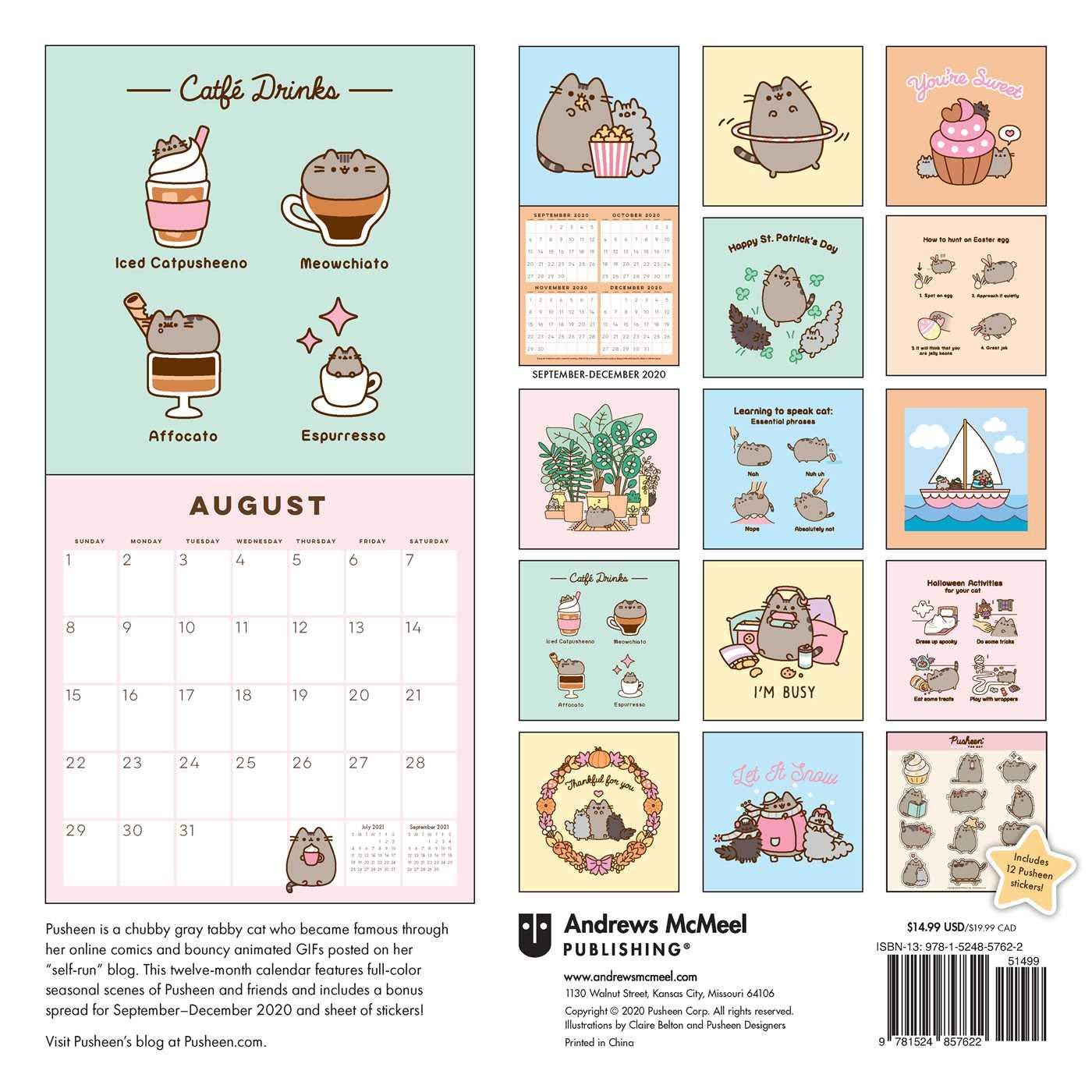 Pusheen 2021 Wall Calendar: Belton, Claire: 0050837434325: Books