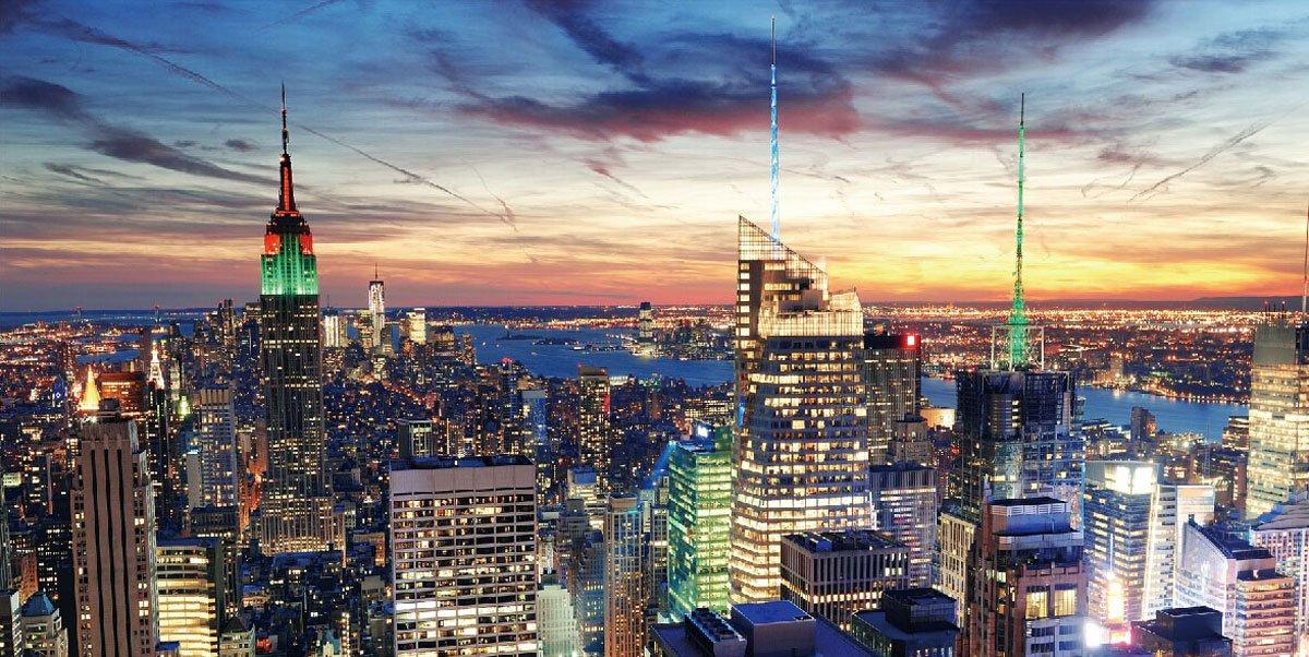 Amazon.de: LED Bild Mit Beleuchtung, Leinwandbild Leuchtbild Wandbild,  Timer ~ 100x50cm New York