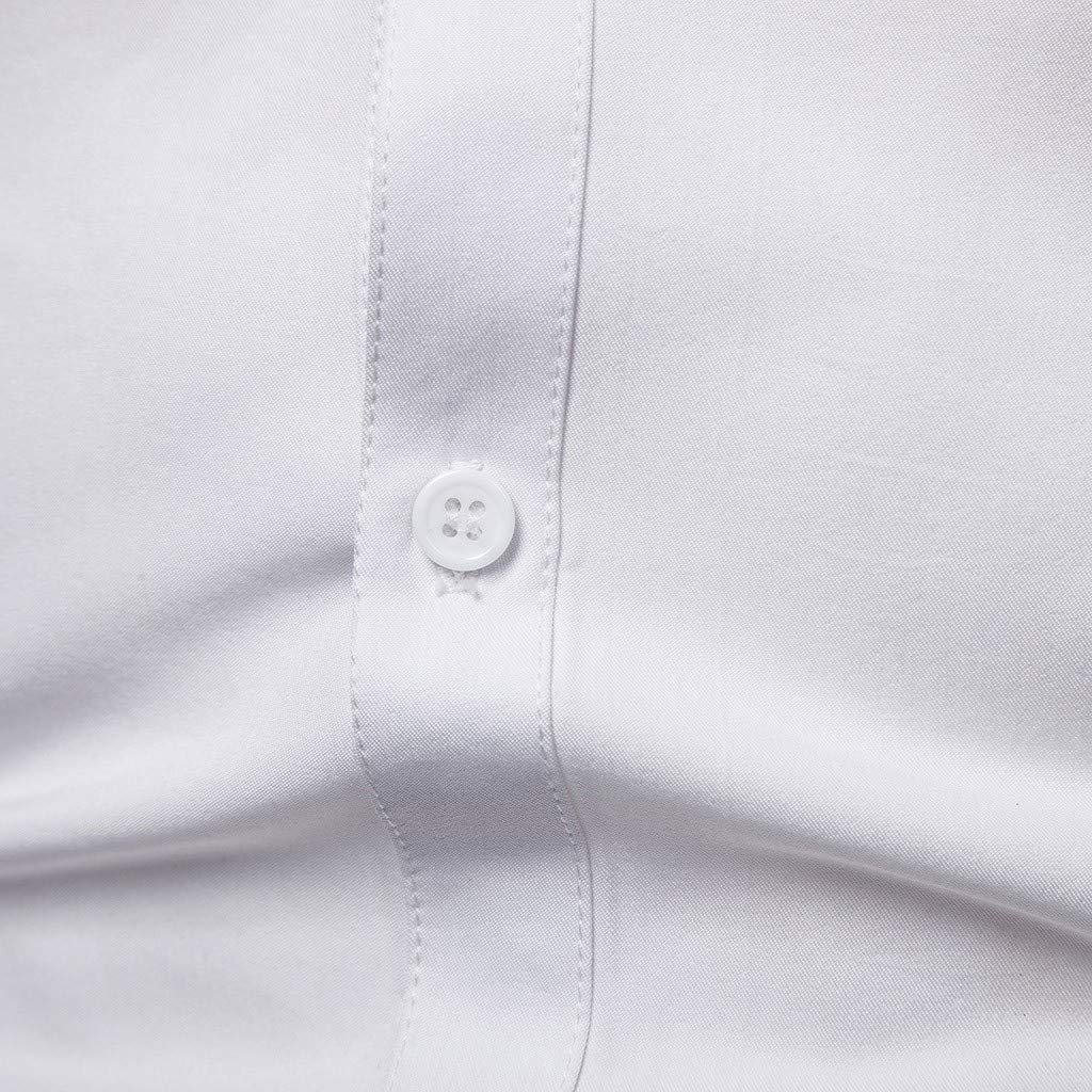 FD-FLY88 Shirt for Men Long-Sleeve Slim Fit with Chest Bead Piece Casual Blouse