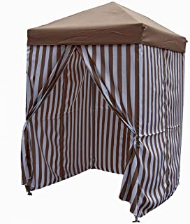 5u0027x5u0027 Stripe Popup Pool Cabana  sc 1 st  Amazon.com & Amazon.com: Pool Cabana Private Changing Room Showering Tent ...