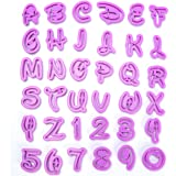 ilauke Lot de 36pcs Moule Lettres Chiffres Découpe Pâte Emporte-Pièce Lettre 3D à Gâteaux Alphabet Nombre pour Décoration Pâtisserie, Pâte à sucre, Chocolat