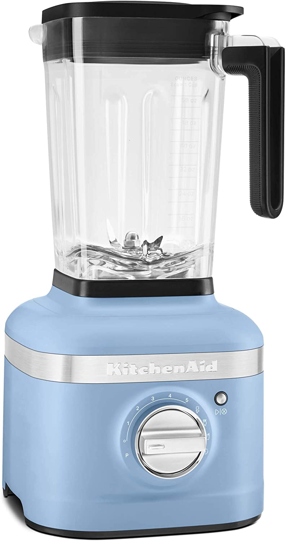 KitchenAid KSB4027VB K400 Countertop Blender, 56 Oz, Blue Velvet (Renewed)