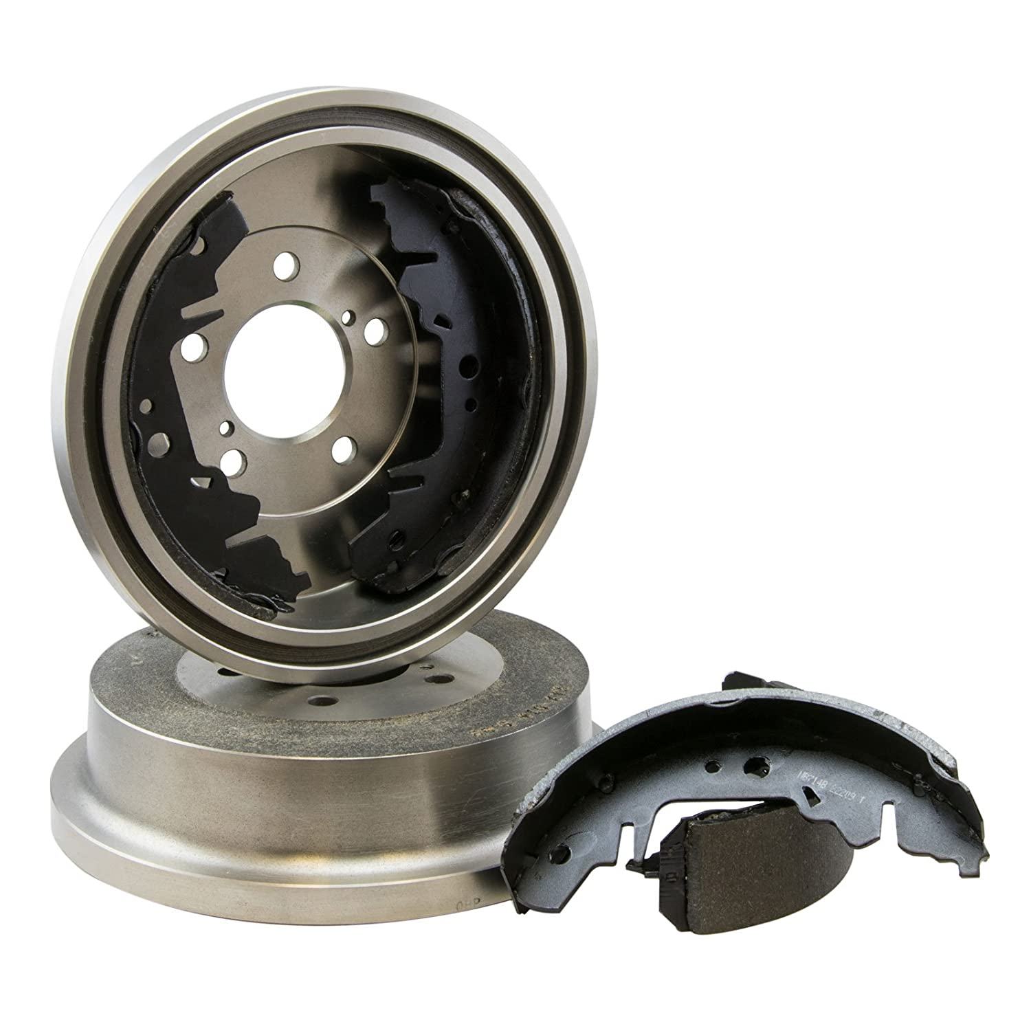 Max DS910842 Rear Premium OE Replacement Drums and Shoes Combo Brake Kit Max Advanced Brakes