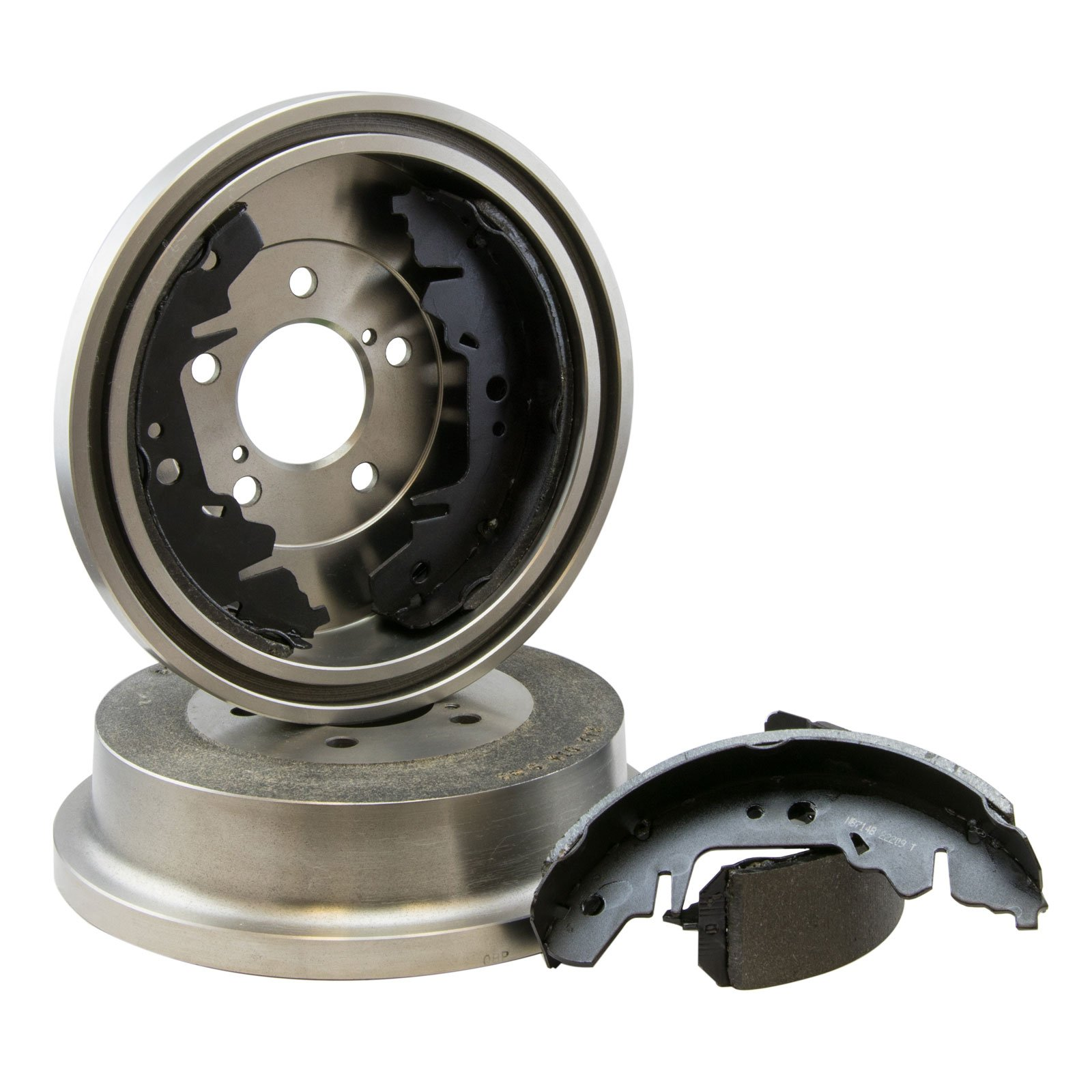 Max DS925142 Rear Premium OE Replacement Drums and Shoes Combo Brake Kit by Max Advanced Brakes