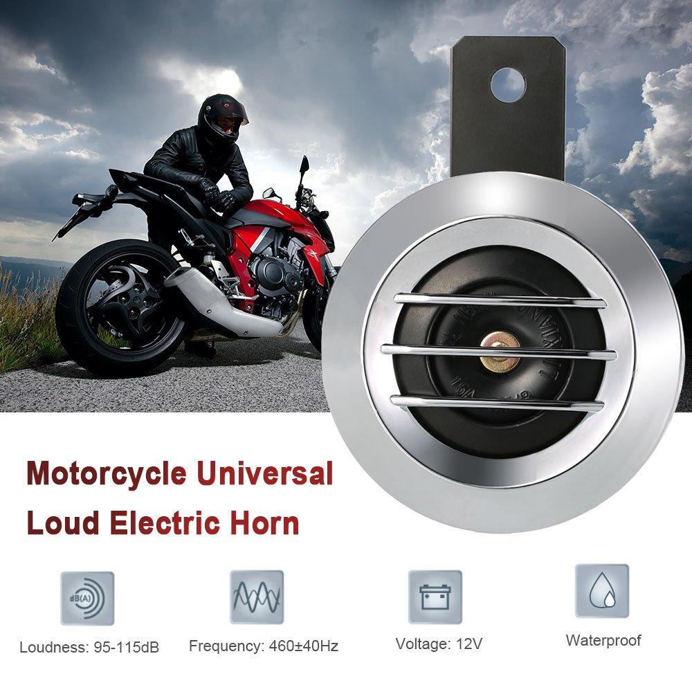 Klaxon universel KKmoon rond é lectrique pour moto DC 12 V 1.5 A 105 dB