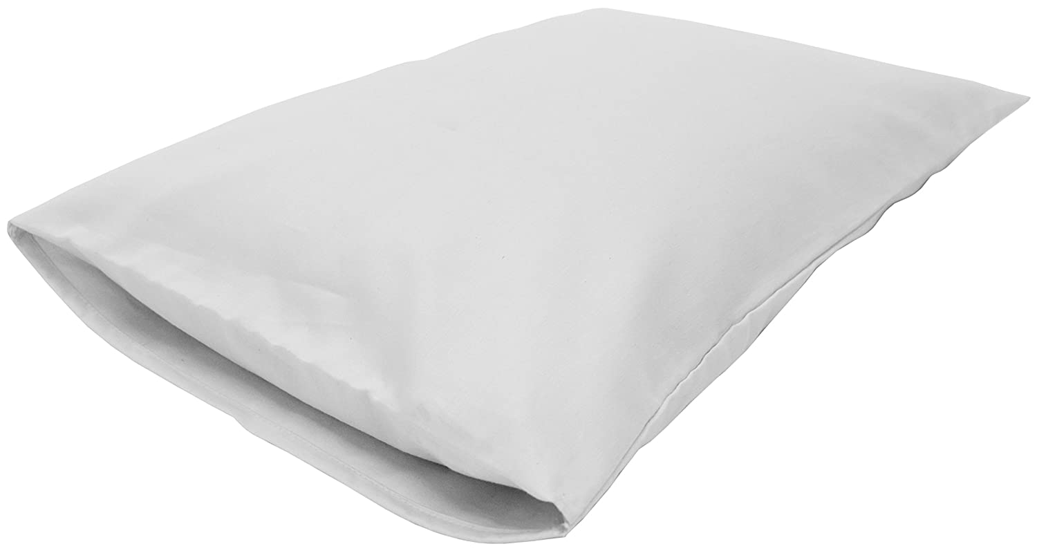 Bean Products King Organic Kapok Pillow + White Org Case - 20' x 36' - Organic Cotton Zippered Shell - Made in USA