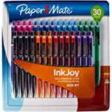 Paper Mate 30 Pack InkJoy 300RT Colored Ballpoint Pens Set Retractable Medium Point
