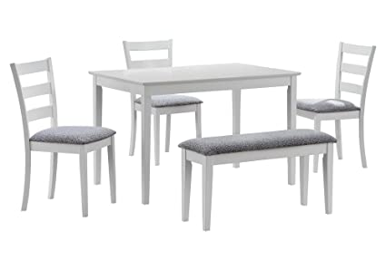 Amazon.com: Monarch Specialties I 1210, Dining Set with a Bench and ...