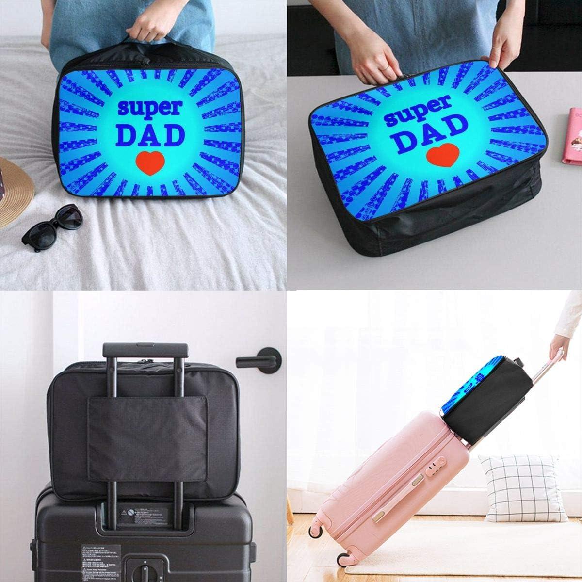 Yunshm Super Dad Personalized Trolley Handbag Waterproof Unisex Large Capacity For Business Travel Storage