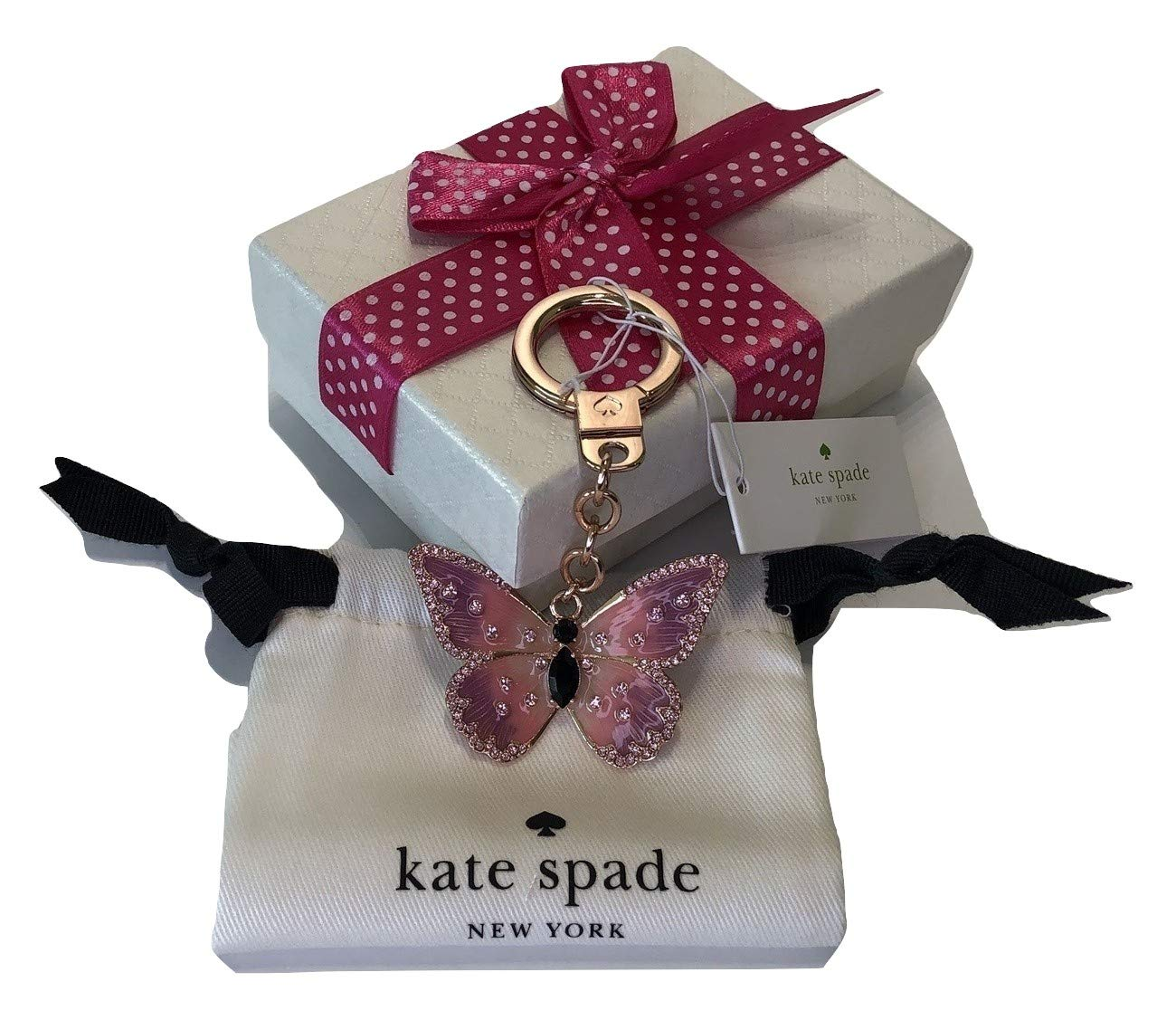 Kate Spade New York Keychain Key Fob (WORU0275 Butterfly)