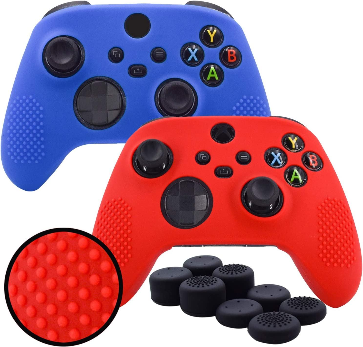 Pandaren/® Silicone Rubber Cover Skin Case Anti-Slip Water Transfer Customize Digital Camouflage for Xbox One//S//X Controller x 1 FPS PRO extra height thumb grips x 8 Orange