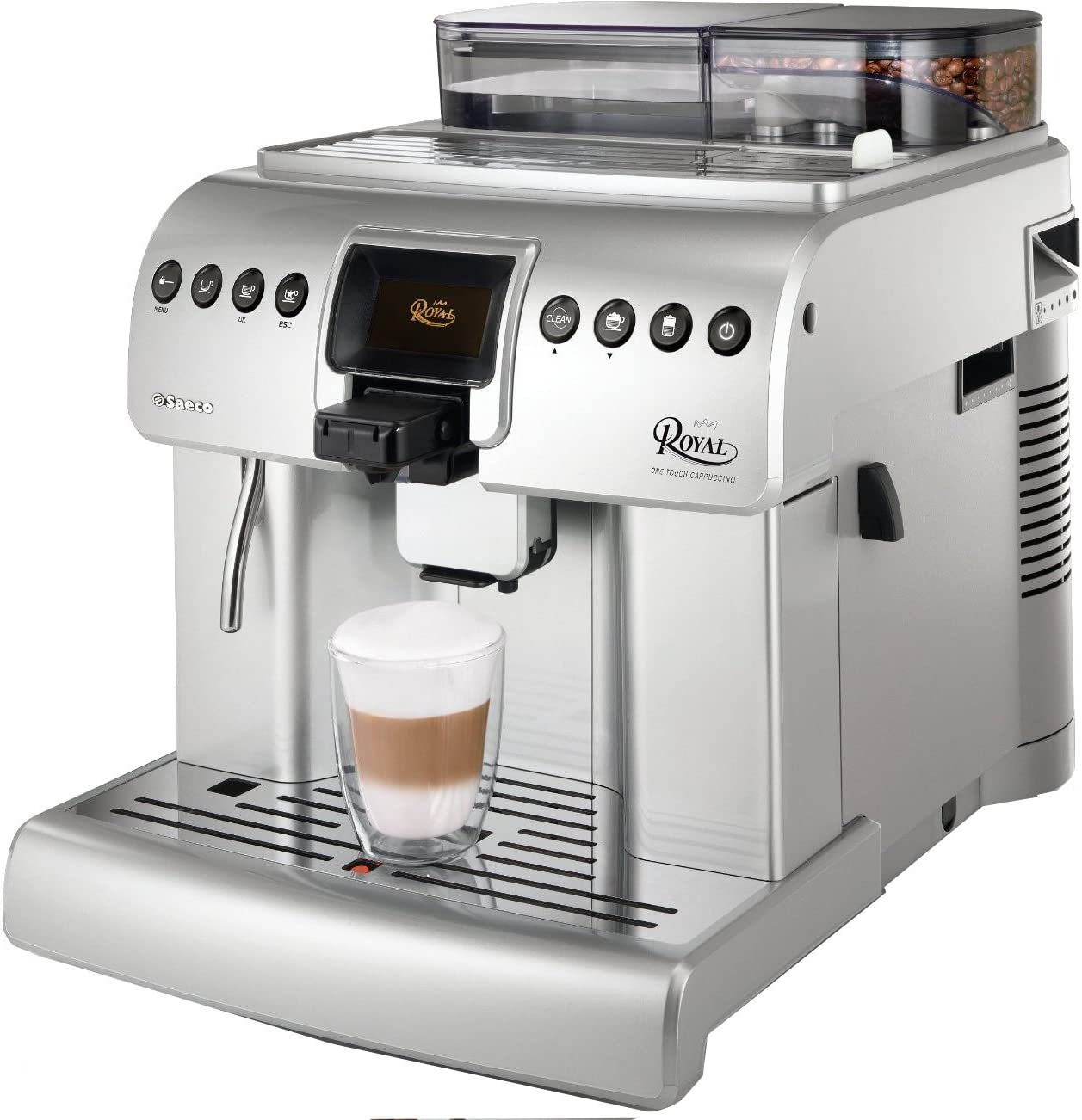 Saeco HD8930/01 - Cafetera de espresso Royal, color plateado ...