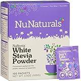 NuNaturals – NuStevia – White Stevia Powder – All-Purpose Sweetener – 100 Count