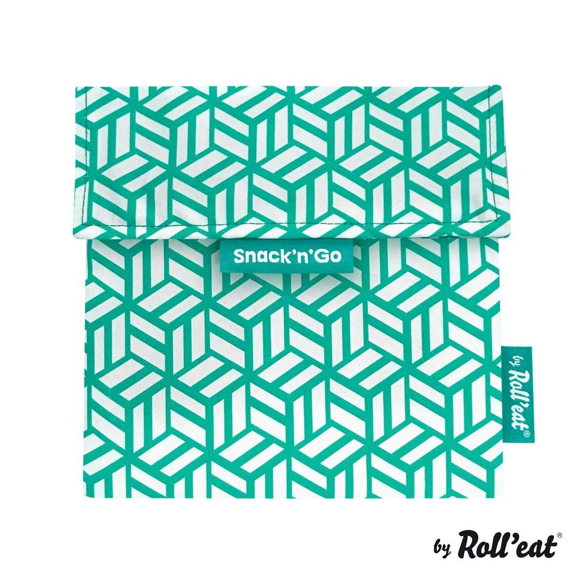 Unisex Funda Porta Sandwich Color Verde SnacknGo Tiles Bolsa Merienda Porta Snacks Ecol/ógica y Reutilizable sin BPA Rolleat
