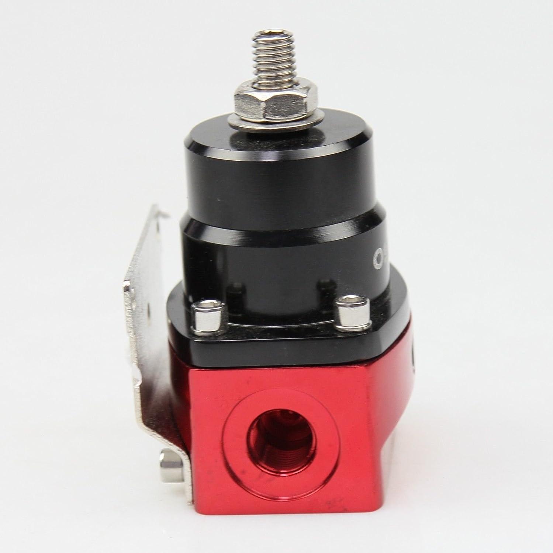 OSIAS New Adjustable Fuel Pressure Regulator Kit AN 6 Fitting End BLACK