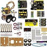 Keyestudio Robot Car Kit para Arduino 4WD Escritorio Bluetooth Mini Smart Car Tallo Educación (Incluye Libro de un Usuario)