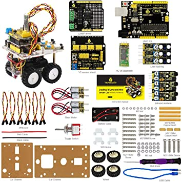 KEYESTUDIO Smart Auto DIY Kit Desktop schnurlos: Amazon.de: Computer ...