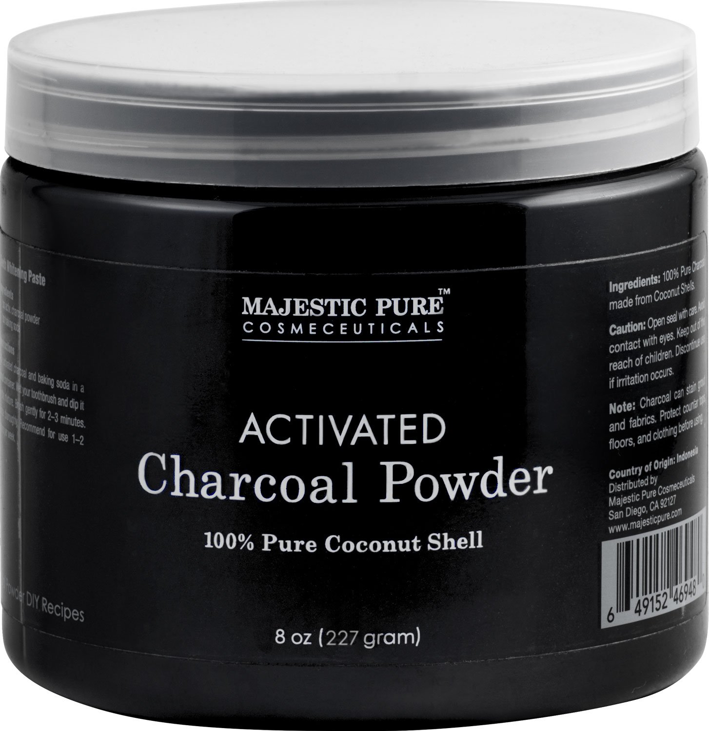 Activated Charcoal Powder 100% coconut shell 8oz, 227mg B06ZZXG2CJ
