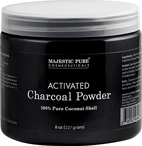bf89c22db20 Activated Charcoal Powder from Majestic Pure, from 100% Pure Coconut ...