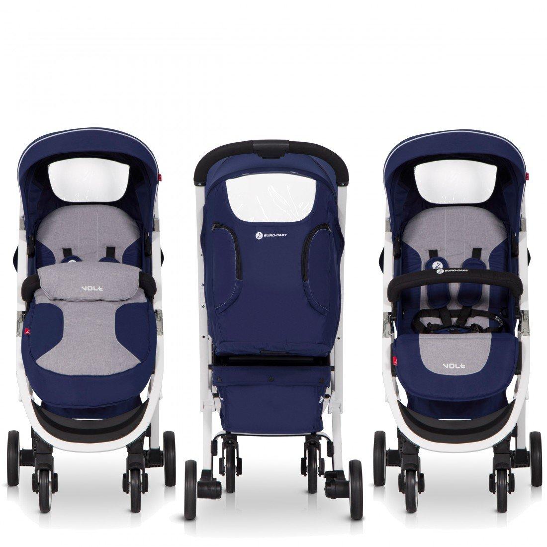 leicht von Geburt geeignet kompakt zusammenklappbar EUROCART Buggy Sport Kinderwagen VOLT LATTE Liegefunktion