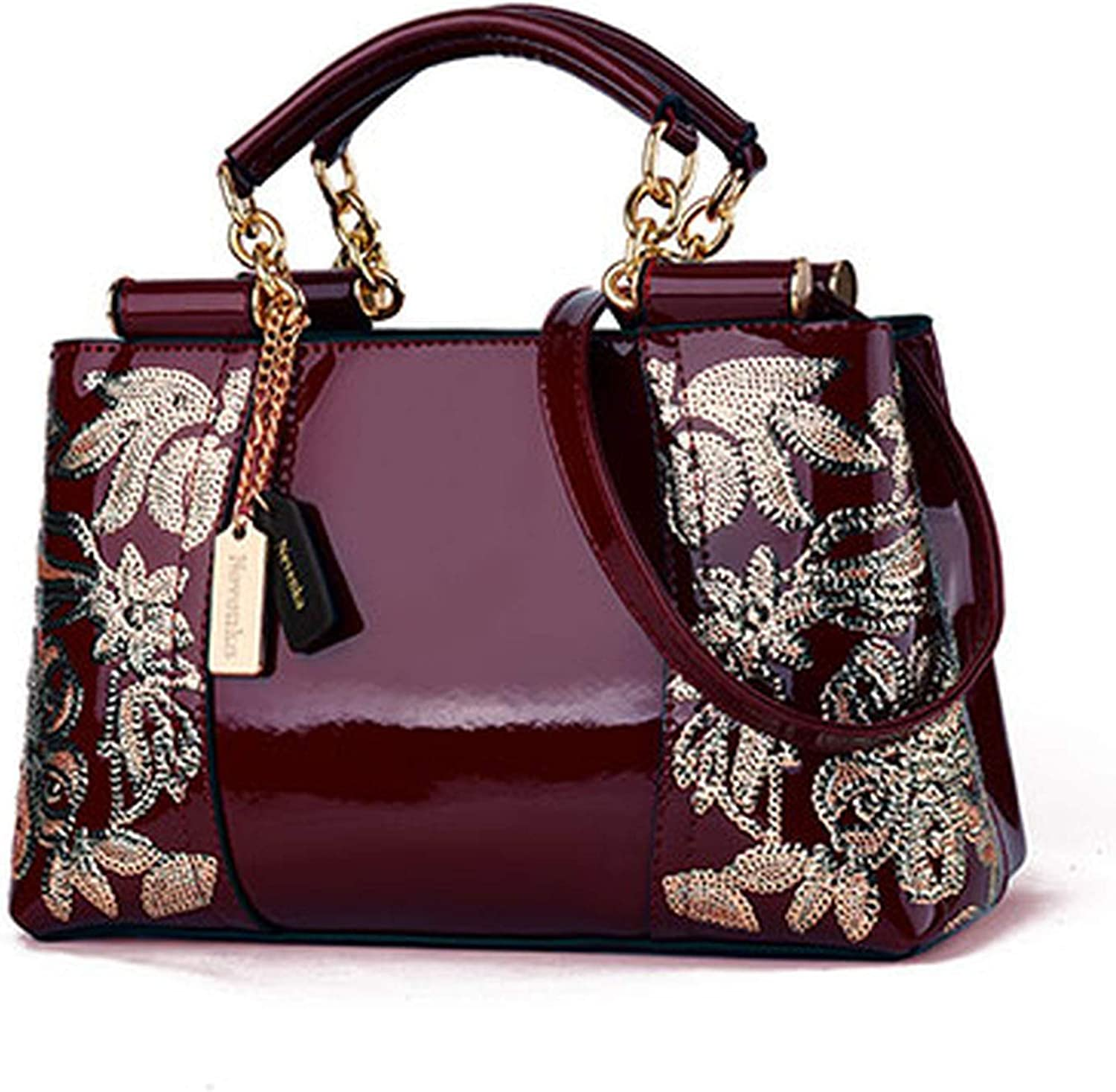 Krystal/_beautiful Embroidery Women Bag Leather Purses and Handbags Luxury Shoulder Bags Female Bags for Women 2019-in Top