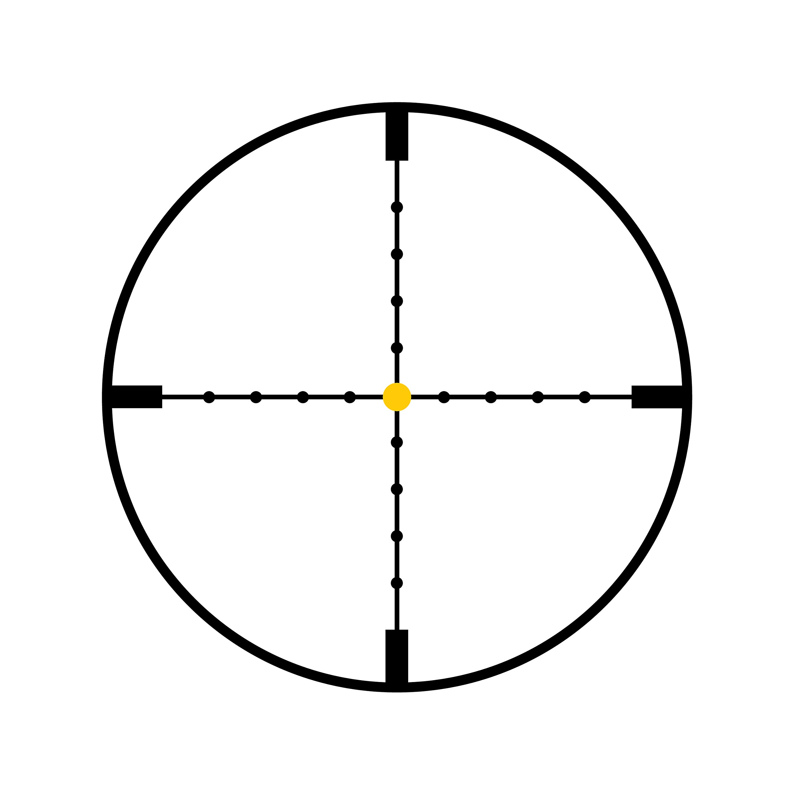 Trijicon TR22-2 AccuPoint 2.5-10x56mm Riflescope, 30mm Main Tube, Mil-Dot Crosshair Reticle with Amber Dot, Main Tube by Trijicon
