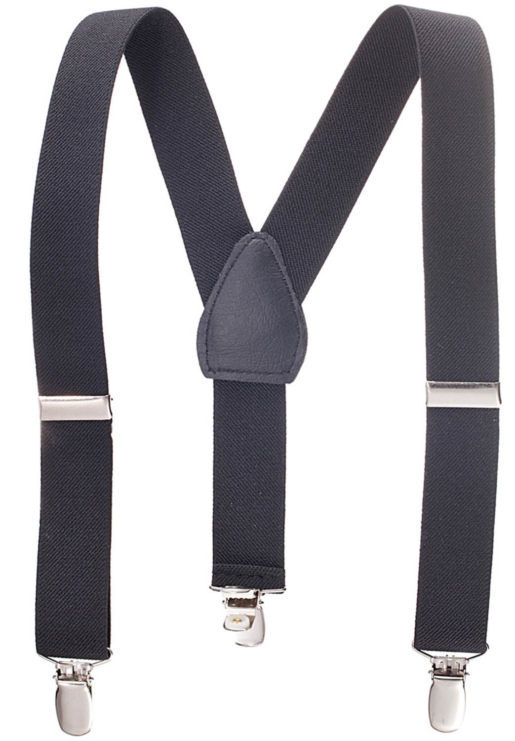 Suspenders for Kids - 1 Inch Suspender Perfect for Tuxedo - Black (26'')