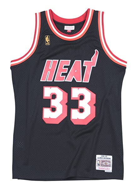 save off e84ed bc25e Amazon.com : Mitchell & Ness Alonzo Mourning Miami Heat NBA ...