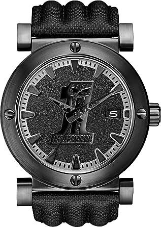 Harley-Davidson 78B131 Mens Number 1 Skull Black Leather Strap Watch