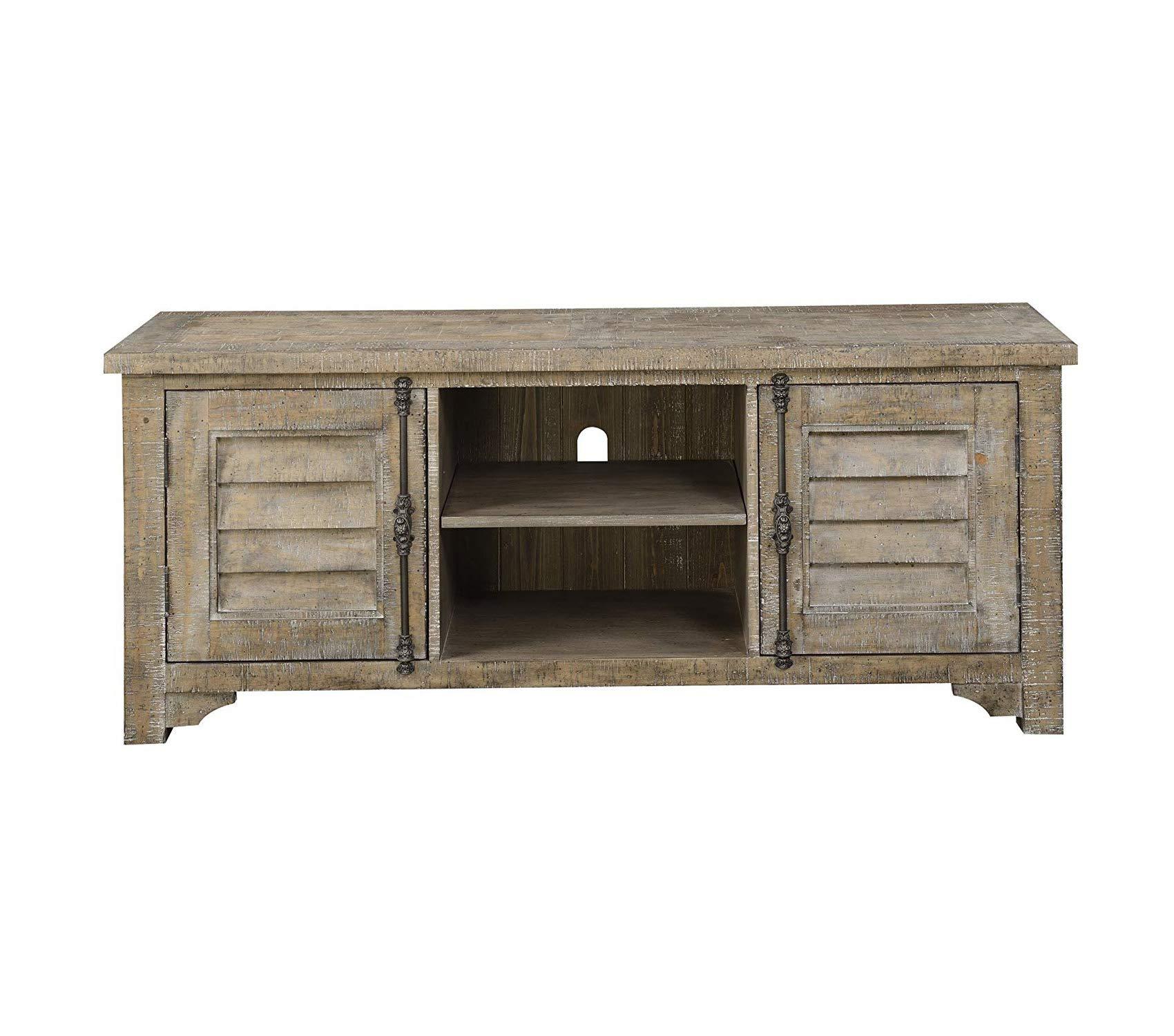 Еmеrаld Hоmе Furnishings Deluxe Premium Collection Interlude TV Entertainment Consoles Standard Sandstone Gray Decor Comfy Living Furniture by Еmеrаld Hоmе Furnishings