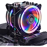 CPU Cooler RGB Black Edition CPU Air Cooler, H120D RGB Fan, 6 CD 2.0 Heatpipes for AMD Ryzen/Intel LGA1151 (Black)