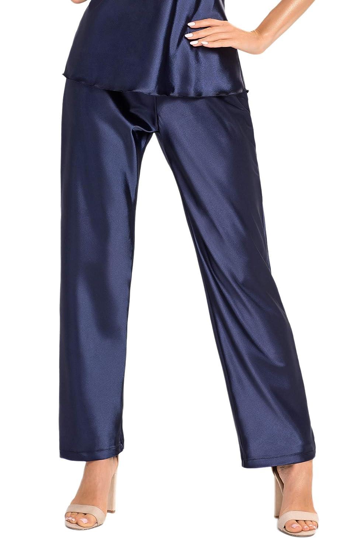Shorty oder Pyjama mit exklusiver Augenbinde Made in EU Selente Sweet Dreams Elegante Satin-Nachtw/äsche als Nachthemd