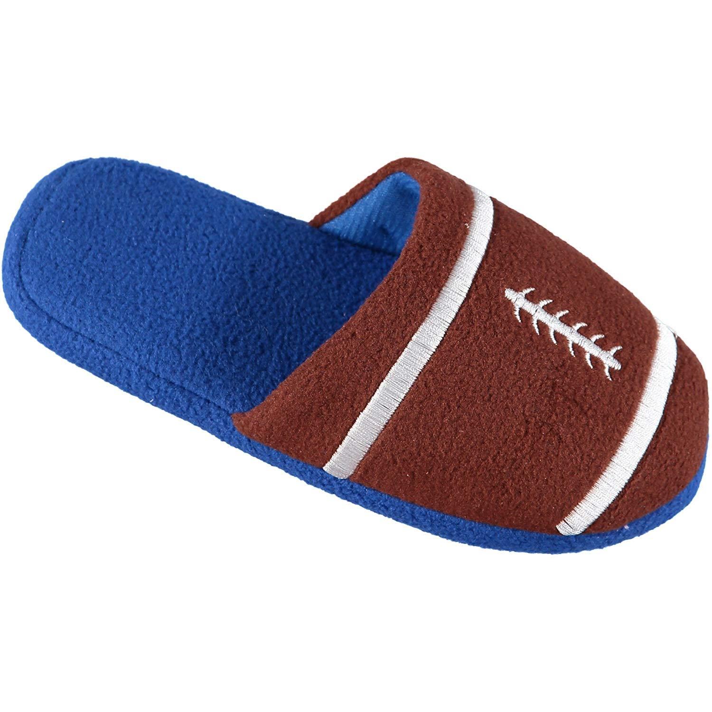 Zac & Evan Little Boys' Sports Fleece Scuff Slipper Shoe SLB 1260/B
