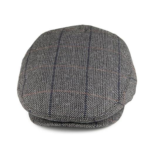 67ef9c96be2 Jaxon   James Hats Toulouse Flat Cap - Grey  Amazon.co.uk  Clothing