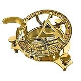 "PARIJAT HANDICRAFT 3"" Sundial Compass - Solid Brass"