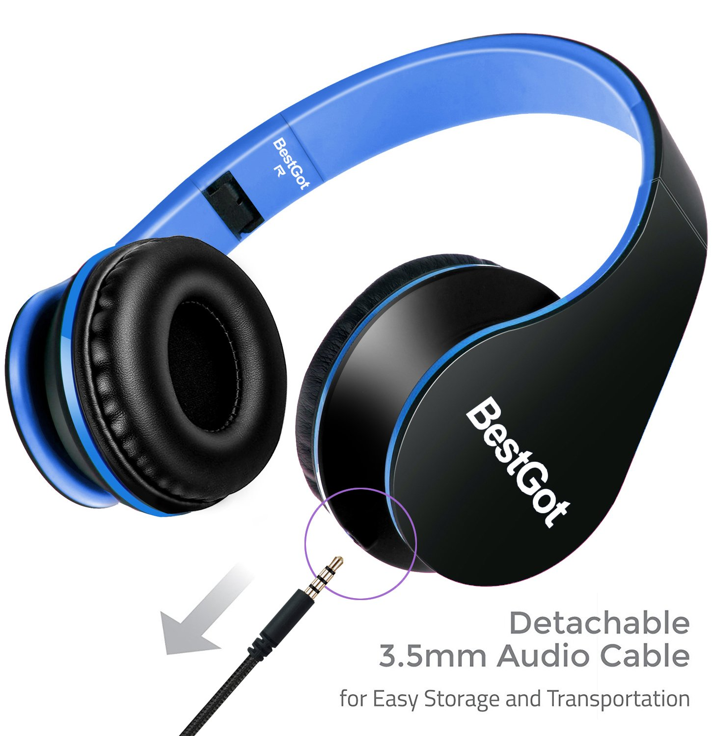 Upgraded version BestGot Wired Headphones with microphone