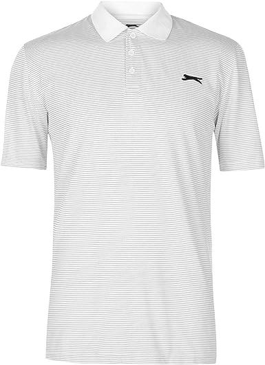 Slazenger Hombre Micro A Rayas Golf Polo Camiseta: Amazon.es: Ropa ...