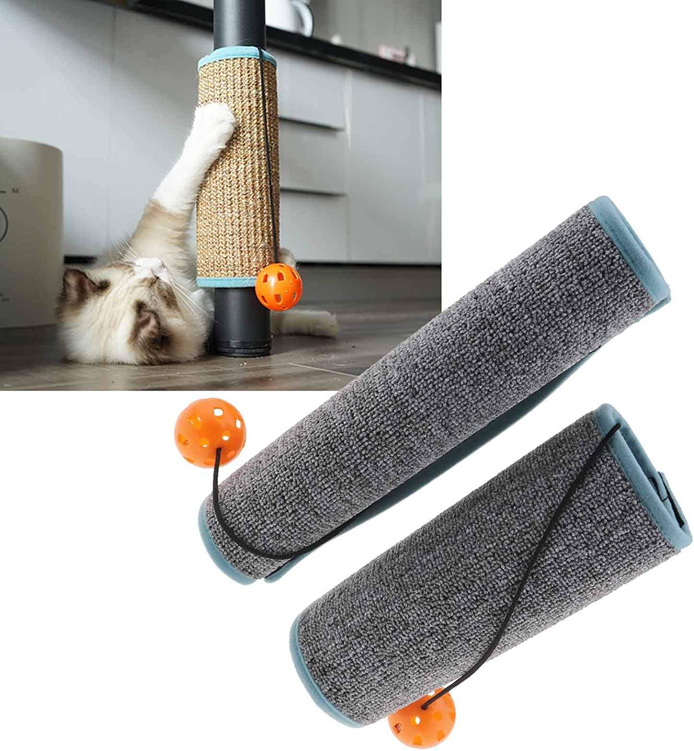 OTOTEC 2pcs 12.4x9.6inch Pet Cat Scratching Protector Protection Around Furniture Sofa Table Chair Desk Leg