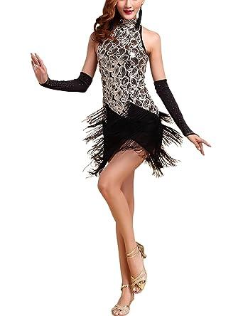 Amazon.com  Whitewed Roaring 1920s 20s Sequin Tassel Paisley Flapper Girl Costume  Dress  Clothing a00639636