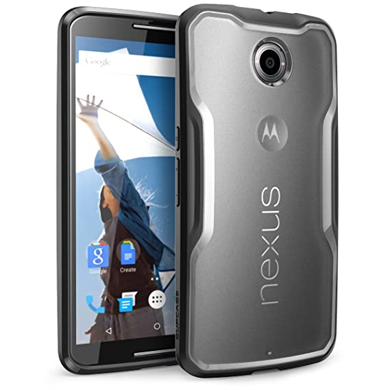 huge selection of 53443 a93c8 Nexus 6 Case, SUPCASE Google Nexus 6 Case [Unicorn Beetle Series] Premium  Hybrid Bumper Case Cover for Motorola Nexus 6 (Frost Clear/Black)