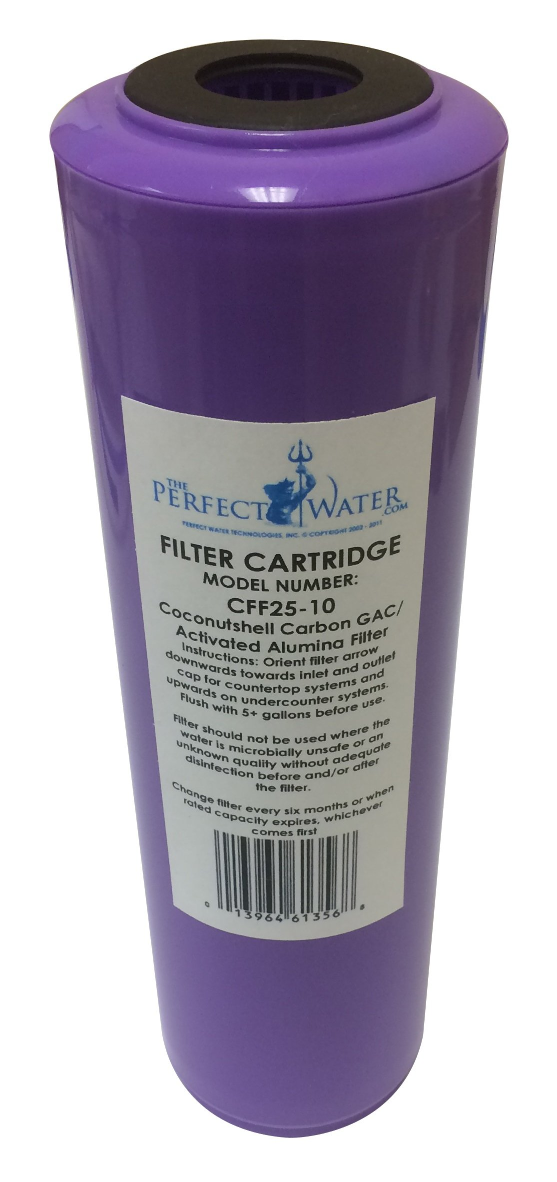 Home Master CFF25-10 Jr F2 Replacement Water Filter, Activated Alumina/GAC Fluoride Filter, Purple