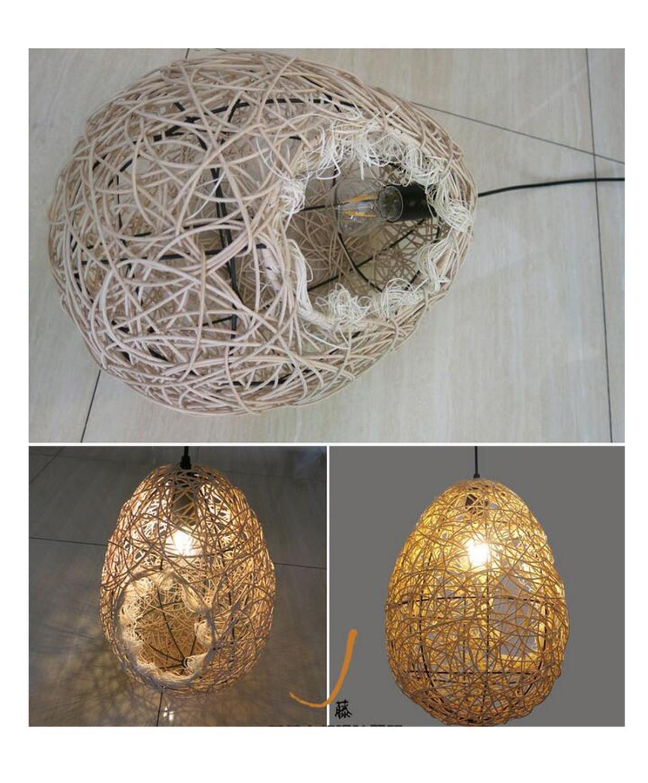 GRFH Nido de pájaro Lámparas colgantes en forma de huevo ...