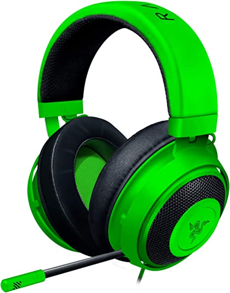 Amazon Com Razer Kraken Gaming Headset Lightweight Aluminum Frame Retractable Noise Isolating Microphone For Pc Ps4 Nintendo Switch 3 5 Mm Headphone Jack Green Computers Accessories