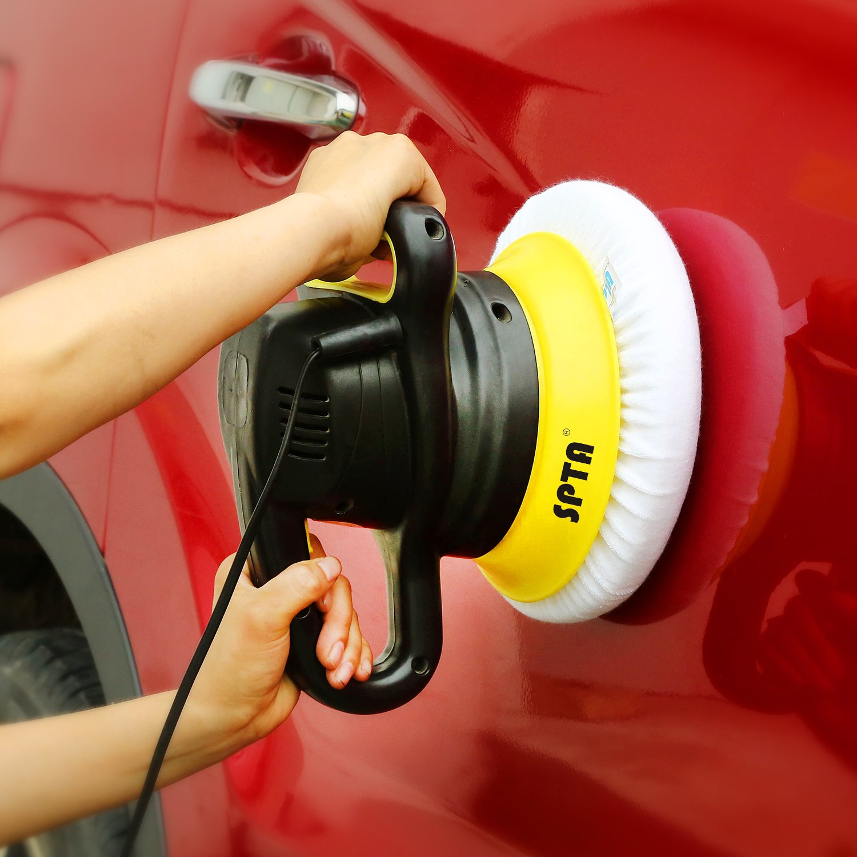 SPTA 9 Inch & 10 Inch Car Polisher Bonnet, Waxers Bonnet Set,Max Waxer Bonnet Polishing Pad for Most Car Polishers For 9 Inch & 10 Inch Car Polisher Pack of 8Pcs by SPTA (Image #7)