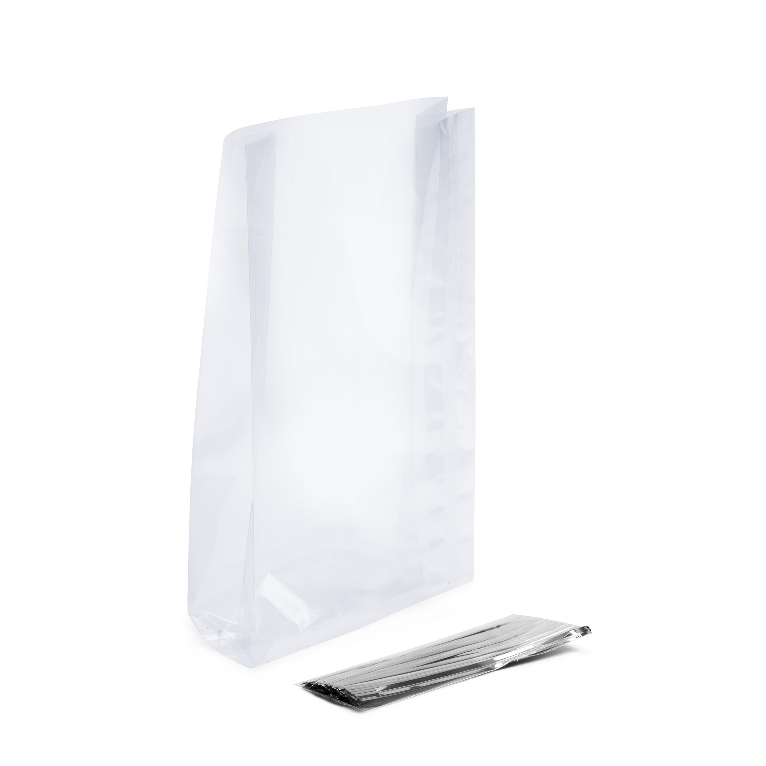 """LSP - 125 Pack of 9"""" x 4"""" x 2"""" Clear Cellophane -"""