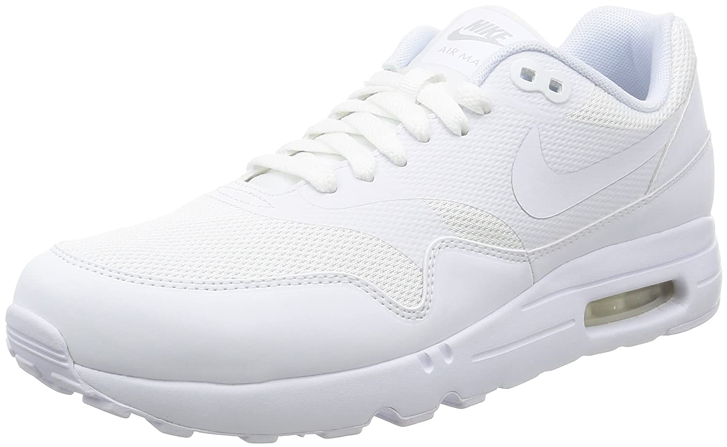 Nike Herren Air Max 1 Ultra 2.0 Essential Sneaker  43 EU|Bianco (White/White/Pure Platinum)